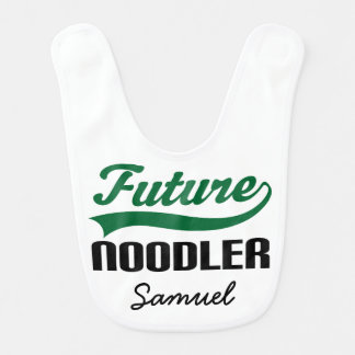 Future Noodler Personalized Baby Bib