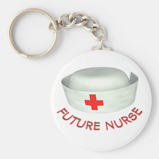Future Nurse Basic Round Button Keychain