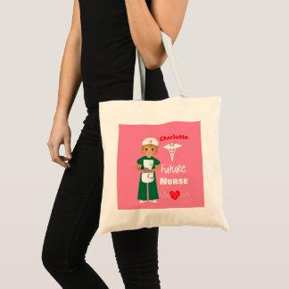 Future Nurse Little Girls Cute Personalized Tote Bag
