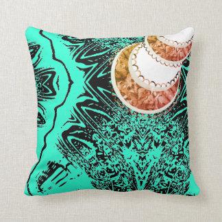 Future Orange Crescents Cushion