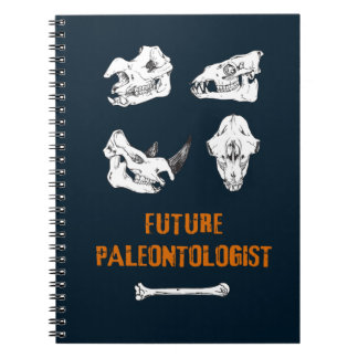 Future Paleontologist, Dinosaurus Skulls Skeletons Notebooks