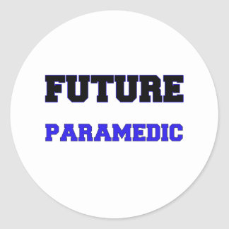Future Paramedic Round Sticker