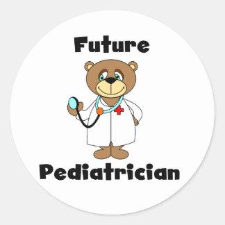 FUTURE PEDIATRICIAN CLASSIC ROUND STICKER