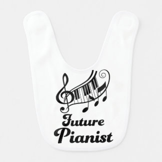 Future Pianist music baby bib