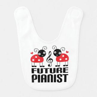 Future Pianist personalized bib