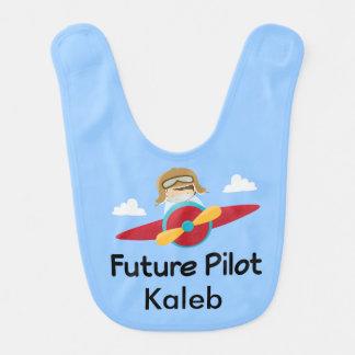 Future Pilot Personalized Airplane Infant Bib