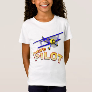 FUTURE PILOT with Blue Biplane T-Shirt