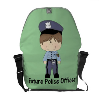 future police officer (boy) messenger bags