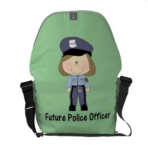 future police officer (girl) messenger bags