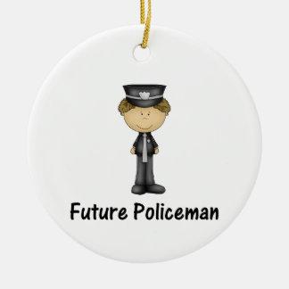 future policeman ceramic ornament