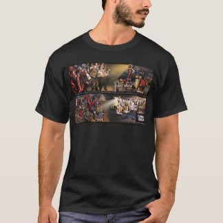 Future Quake Mural/Revelation Quote Dark Shirt