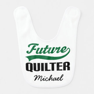 Future Quilter Personalized Baby Bib