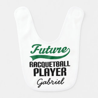 Future Racquetball Player Personalized Baby Bib