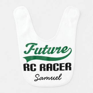 Future RC Racer Personalized Baby Bib