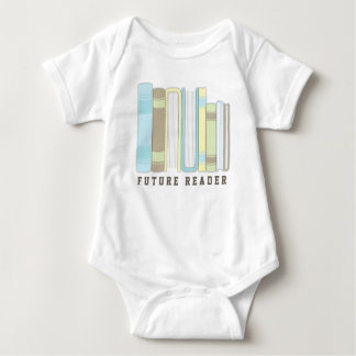 Future Reader Baby Book Stack Funny Shirt