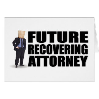 """Future Recovering Attorney"" Notecards Card"
