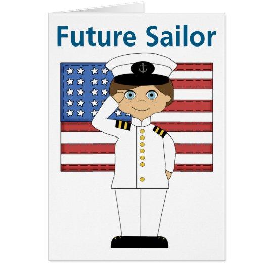 Future Sailor Boy Dark Hair Card