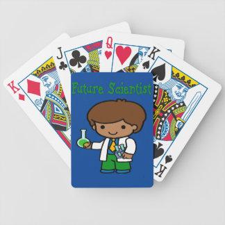 Future Scientist  Dark Skin Bicycle Playing Cards