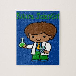 Future Scientist  Dark Skin Jigsaw Puzzle