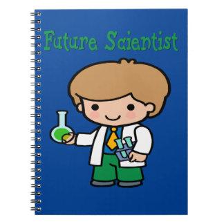 Future Scientist Dark Skin Notebook