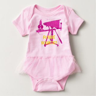 FUTURE SCIENTISTS 18TH CENTURY MICROSCOPE BABY BODYSUIT
