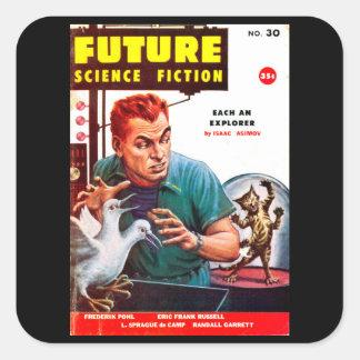 Future September 1956_Pulp Art Square Sticker