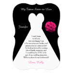 """Future Sister in Law Bridesmaid Poem Request Gown 5"""" X 7"""" Invitation Card"""