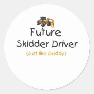 Future Skidder Driver Classic Round Sticker