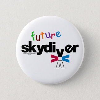 Future Skydiver 2 Inch Round Button