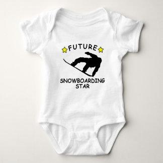 Future Snowboarding Star Baby Bodysuit