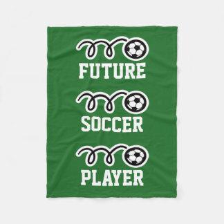 Future soccer player fleece blanket for kids