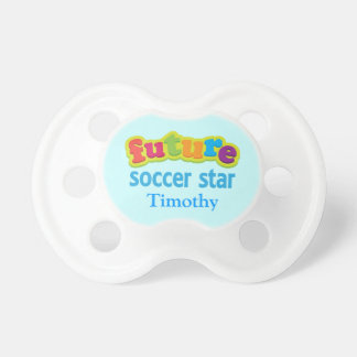 Future Soccer Star Personalized Baby Shower Gift Pacifiers