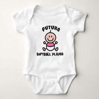 Future Softball Player Baby Gift Baby Bodysuit