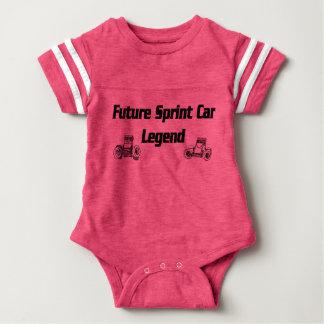 Future Sprint Car Legend pink Baby Bodysuit