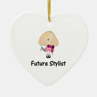 future stylist ceramic ornament