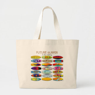 FUTURE SURFER IN THE MAKING LARGE TOTE BAG
