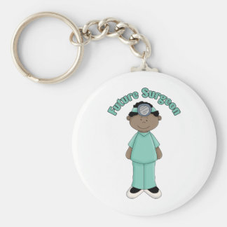 Future Surgeon African American Boy Keychain