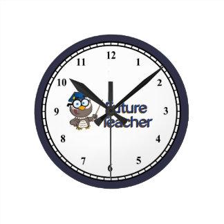 Future Teacher Round Clock