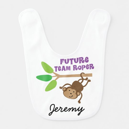 Future Team Roper Personalized Baby Bib