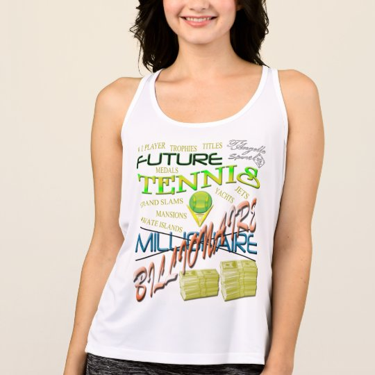 Future tennis billionaire Performance Tank top