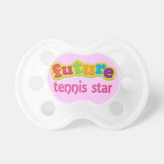 Future Tennis star Cute Acting Baby Shower Gift Pacifier