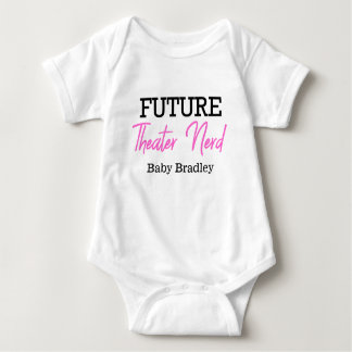 Future Theatre Nerd Pink Personalized Baby Bodysuit