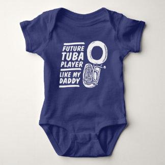 Future Tuba Player Like My Daddy Baby Bodysuit