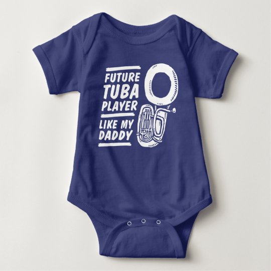 Future Tuba Player Like My Daddy Baby Bodysuit
