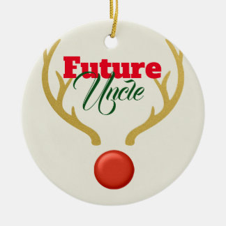 Future Uncle Ceramic Ornament