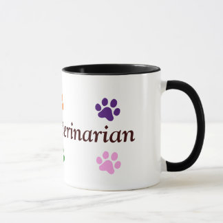 Future Veterinarian-Colorful Paw Prints Mug