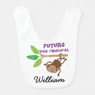 Future Vice Principal Personalized Baby Bib