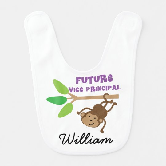 Future Vice Principal Personalized Baby Bib