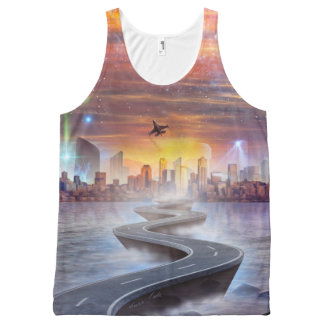 Future Vision All-Over Printed Unisex Tank