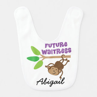 Future Waitress Personalized Baby Bib